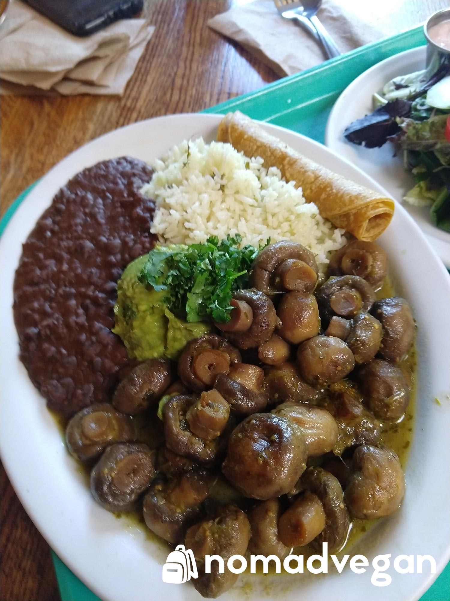 dharma capitola vegan mexican food with mushrooms