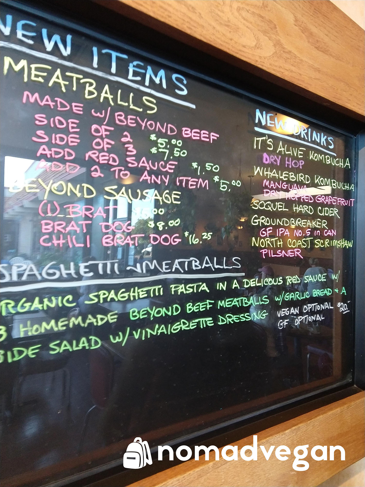 Dharmas Capitola menu of the day