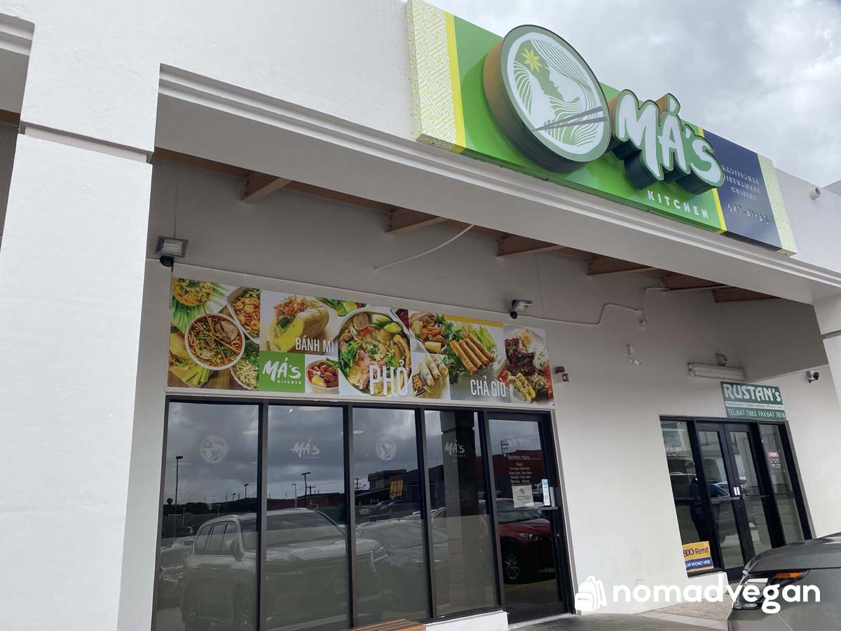 mas kitchen vegan vietnamese guam