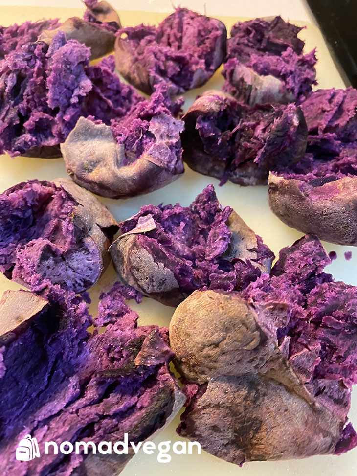 Japanese Purple Potatoes Bowl - Ingredients